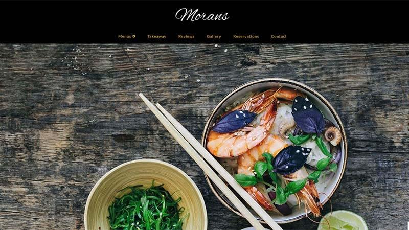 Restaurant Website North Devon