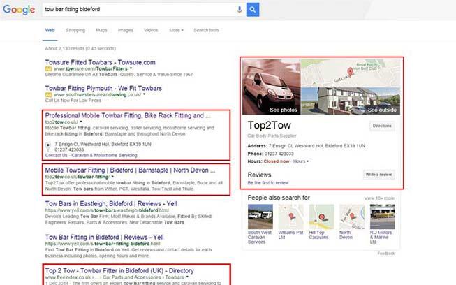 Website Search Engine Optimisation Barnstaple