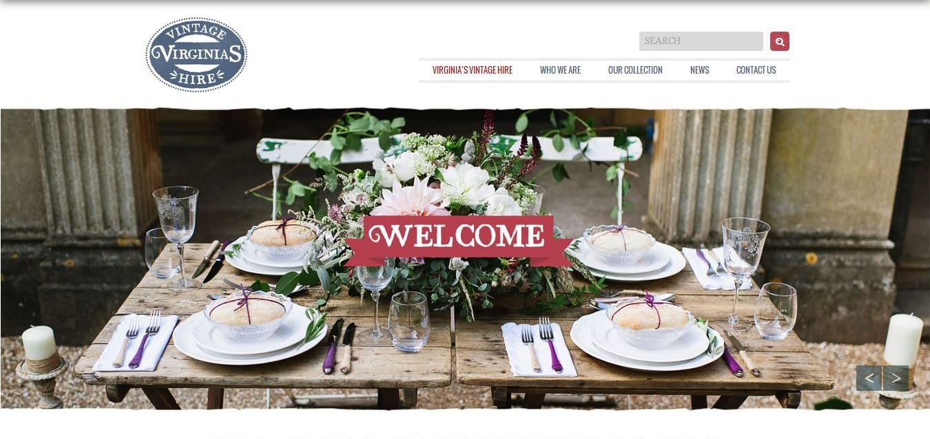 Virginias Vintage hire website built by complete marketing solutions web design