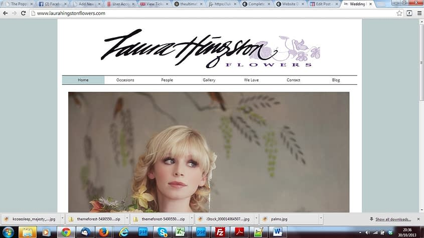 laura hingston flowers new website and search engine optimisationby Complete Marketing Solutions, Bideford, North Devon