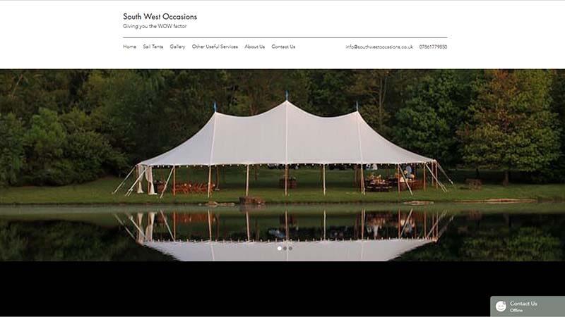 Marquee Company Website Design North Devon
